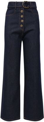 REJINA PYO Emily Wide Leg Cotton Denim Jeans