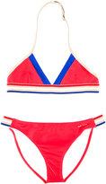 Little Marc Jacobs striped bikini - kids - Polyamide/Polyester/Spandex/Elastane - 14 yrs