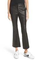 A.L.C. Women's Evan Lambskin Leather Flare Crop Pants