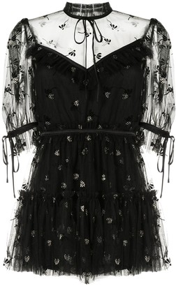 Alice McCall Moon Lover floral embroidered playsuit