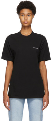Carhartt Work In Progress Black Script Embroidery T-Shirt