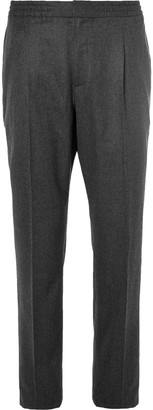 Officine Generale Wool-Flannel Drawstring Trousers