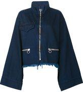 Marques Almeida Marques'almeida wide sleeve zip up jacket