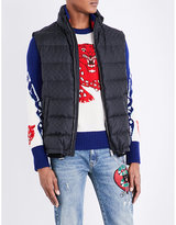 Gucci Logo Quilted Shell Gilet
