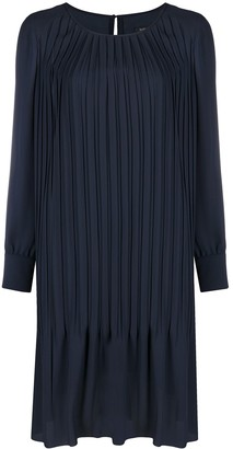 Luisa Cerano Pleated Shift Dress