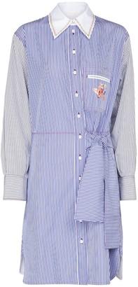 Chloé Pinstriped cotton shirt minidress