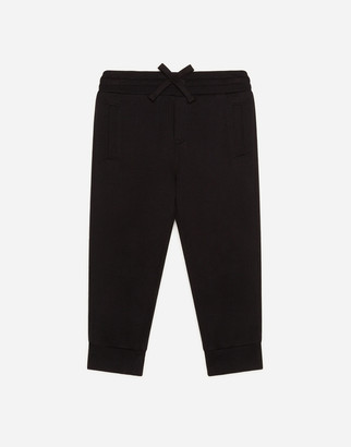 Dolce & Gabbana Jersey Jogging Pants With Plate