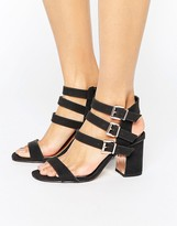 Miss Selfridge Buckle Detail Heeled Sandal