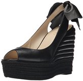 Nine West Women's Katrinna Leather Wedge Sandal