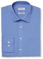 Merona Men's Ultimate Dress Shirt Blue White Print