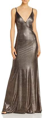 Aidan Mattox Foil Knit Mermaid Gown