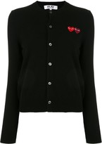 Comme des Garcons heart embroidered cardigan
