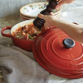 Le Creuset Signature Cherry Round Wide French Oven, 63⁄4 qt.