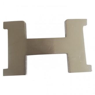 Hermã ̈S HermAs Boucle seule / Belt buckle Silver Metal Belts
