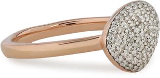 Monica Vinader 18-karat Rose Gold-plated Diamond Ring