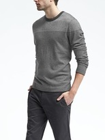 Banana Republic Silk Cotton Cashmere Long-Sleeve Stripe Crew