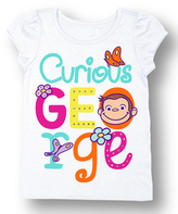 Freeze White Curious George Tee - Toddler