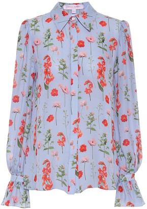 Carolina Herrera Floral silk blouse