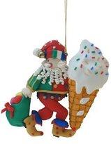 Ice Cream Cone Elf Ornaments [52642]
