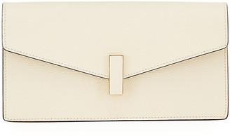 Valextra Iside Leather Envelope Clutch Bag