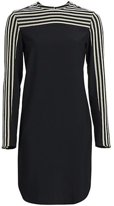 Akris Punto Striped Sleeve Tunic Dress