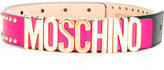 Moschino logo belt - women - Leather - XXS
