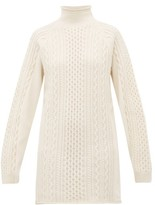 Chloé Contrast-panel Wool-blend Sweater - Womens - Ivory