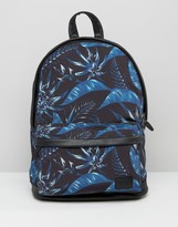 Asos Backpack With Floral Print