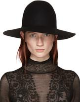 Lanvin Black Felted Fur Hat