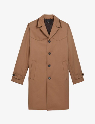 The Kooples Buttoned leather overcoat