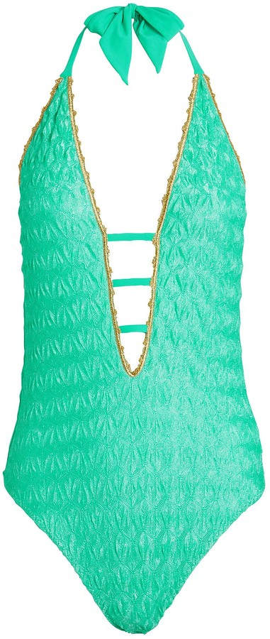 Missoni Mare Metallic-Trimmed One-Piece Swimsuit