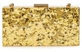 Sondra Roberts Resin Box Clutch - Metallic