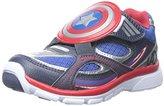 Stride Rite Captain America A/C Light-up Sneaker (Toddler/Little Kid)