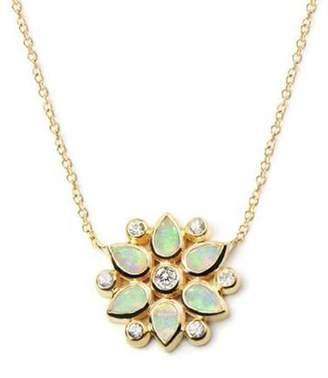 Anzie Bezel Bouquet Petal Necklace