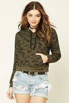 Forever 21 FOREVER 21+ Camo Print Hoodie