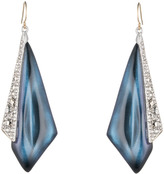 Alexis Bittar Crystal Encrusted Origami Inlay Wire Earring