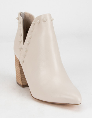 Steve Madden Mosley Womens Off White Booties