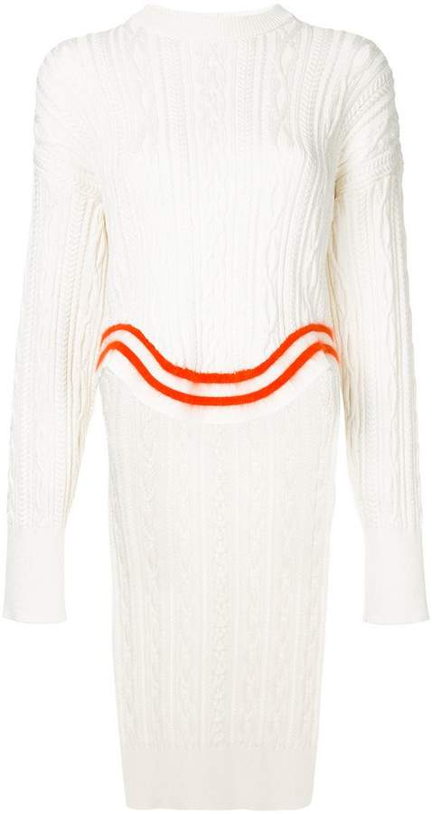 Esteban Cortazar wave cable knit jumper