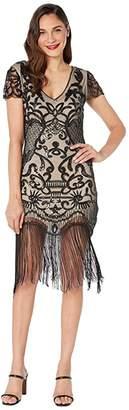Unique Vintage 1920s Style Beaded Fringe Aurore Flapper Dress