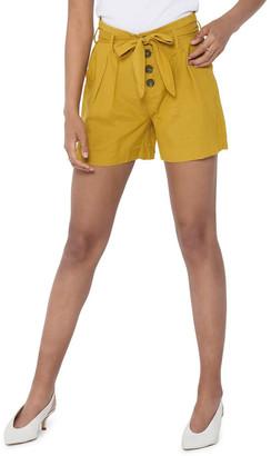 Only Viva High Waist Belt Shorts