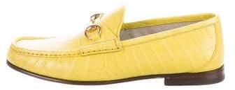 Gucci 2016 1953 Crocodile Loafers w/ Tags