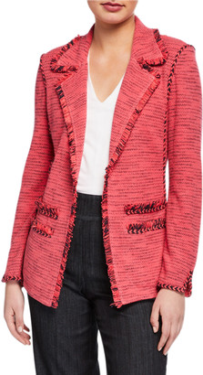 Nic+Zoe Suite Blazer with Fringe Detail & Pockets