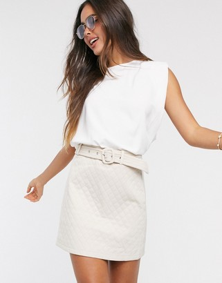Fashion Union quilted mini skirt