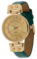 Gossip Hinged Goldtone Leather Strap Watch