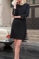 Trina Turk Gold Button Dress