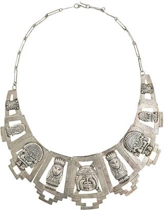 Susan Caplan Vintage 1970s Fist Nations Totem Necklace