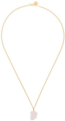 Märta Larsson 18k yellow gold vermeil The Raw One Rose Quartz necklace