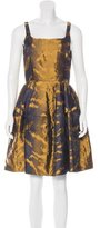 Lanvin Brocade A-Line Dress