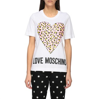 Love Moschino T-shirt Crew Neck T-shirt With Animal Heart Print