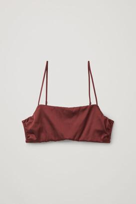 Cos Organic Cotton-Mulberry Silk Textured Bra